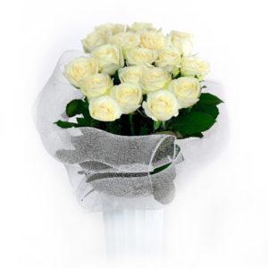 Букет из 21 белой розы. Ялта. Крым