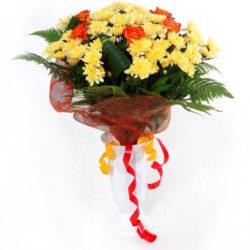 Ялта - Букет из роз и хризантем - купите цветы